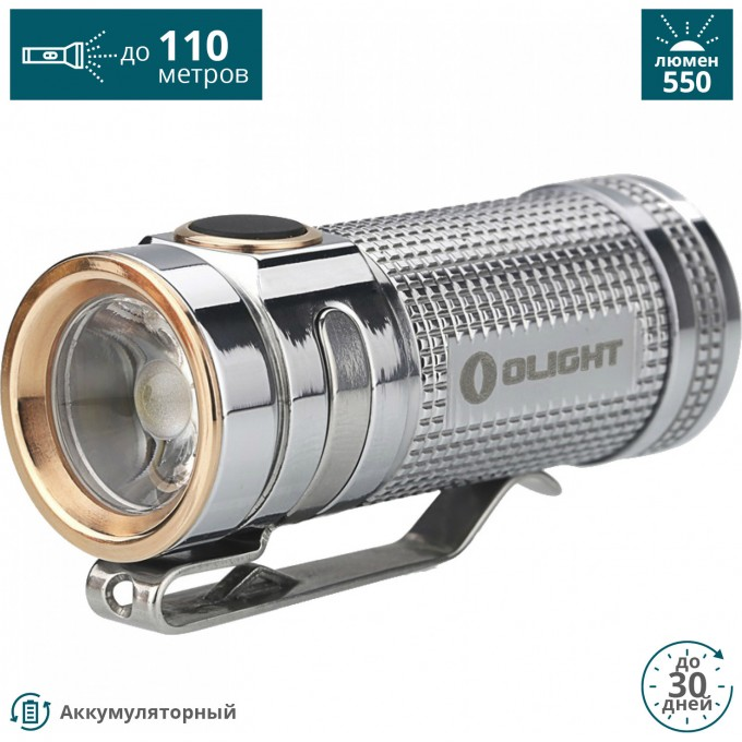 Фонарь OLIGHT S MINI TI POLISHED ТИТАН SMINITIPOLISHED
