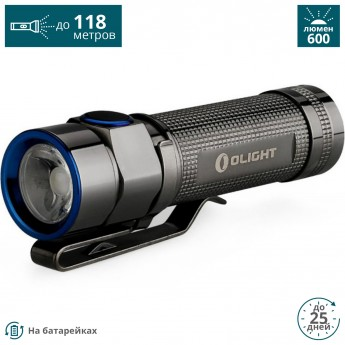 Фонарь OLIGHT S1A SS STAINLESS STEEL СТАЛЬ